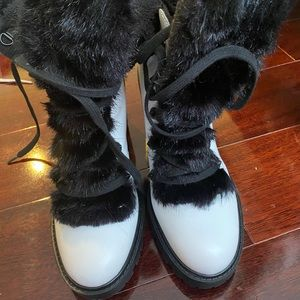 Guess heeled combat boots